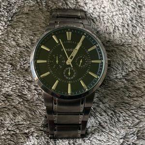 Dark Grey Stainless Steel Fossil Men's Watch